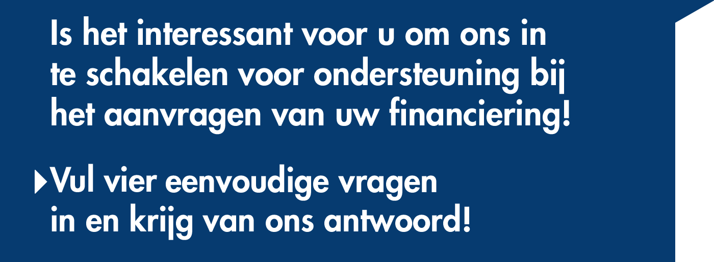 Quickscan check of het interessant is om Finance Partners te laten helpen met uw financiering